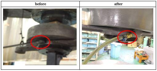 ①-4オーバー作動油の返油配管を敷設