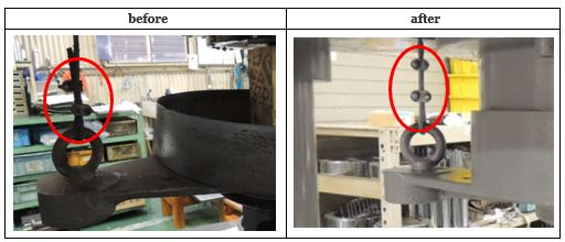 ①-5ウエイト吊り下げワイヤーおよび滑車の整備