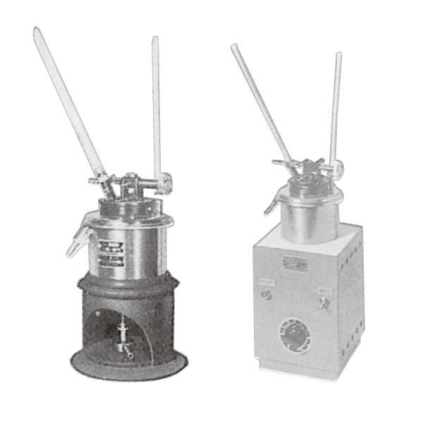 タグ密閉式引火点試験器 A:ガス式 B:電気式