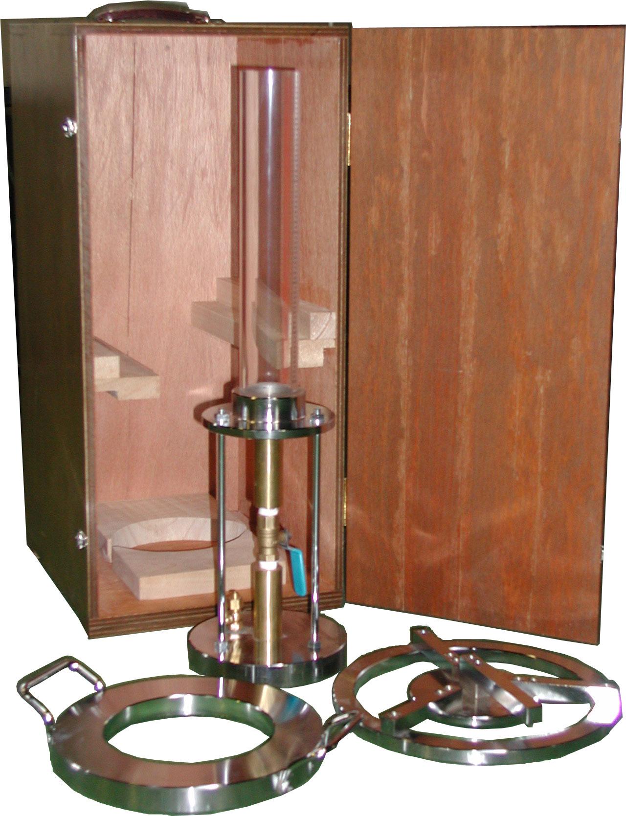 現場透水試験器 内径約φ50長さ約342mm 透明アクリル製