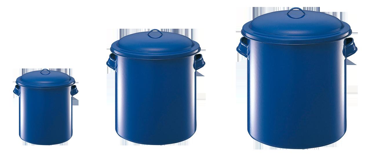 ホーロー容器 蓋付 A:12cmx12cm B:21cmx21cm C33cmx33cm