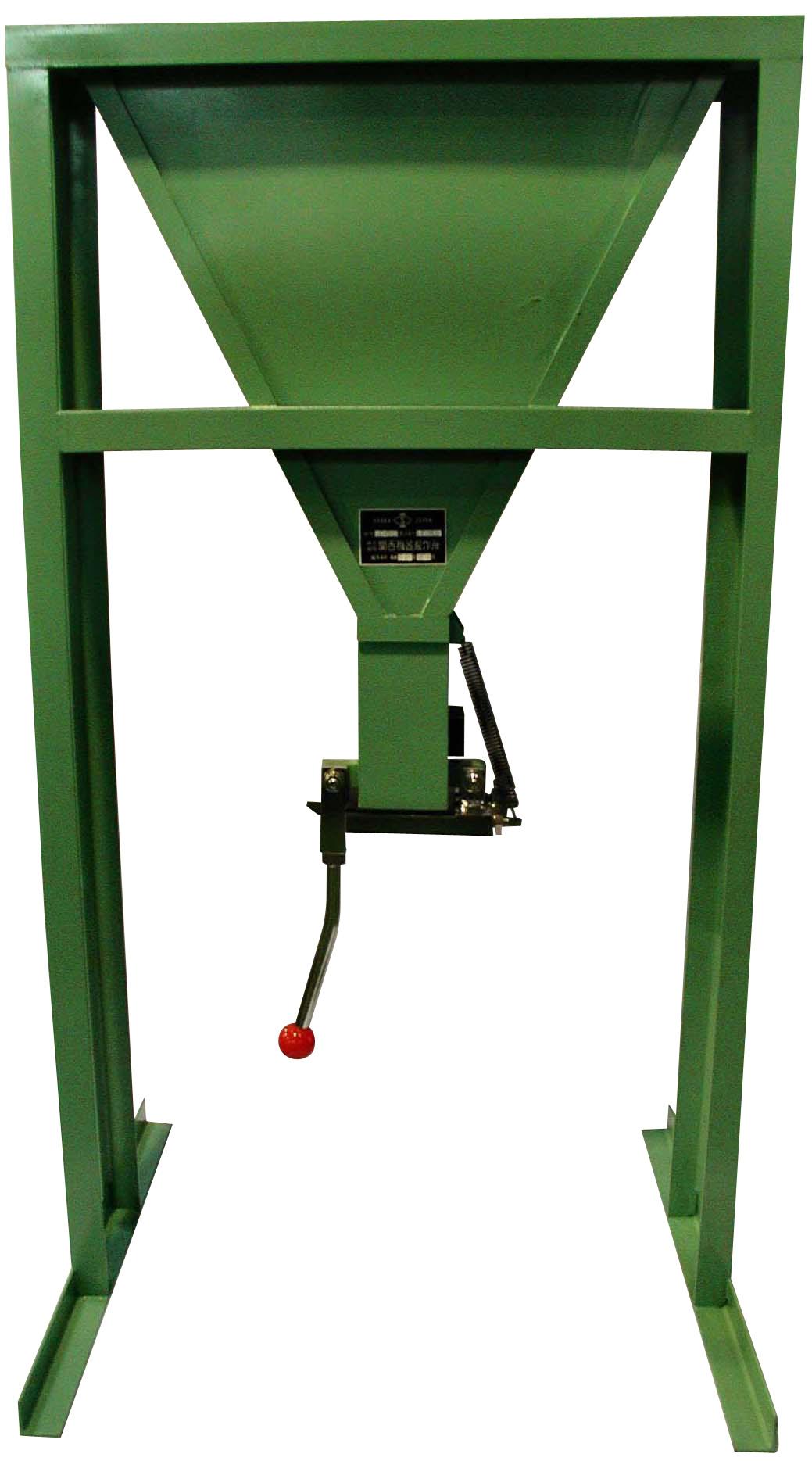 V型ロート試験装置 A:吐出口 65mmx75mm B:75mmx75mm