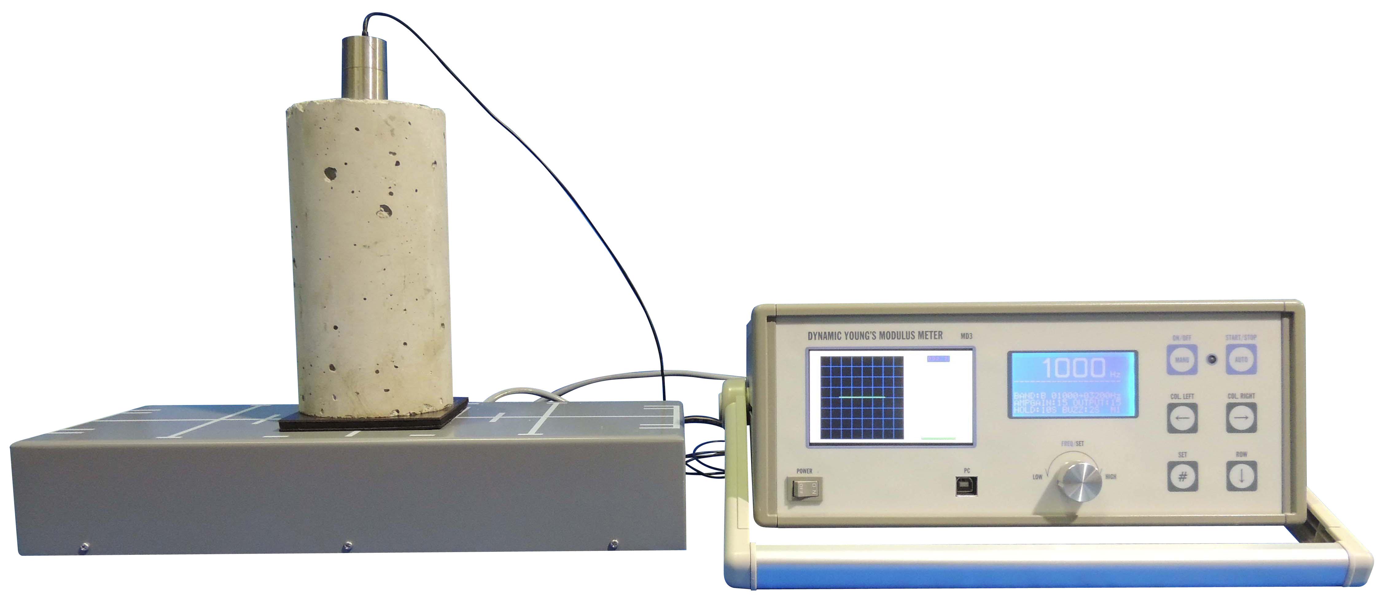 共鳴法非破壊試験機 500〜25,000Hz 7段切替式