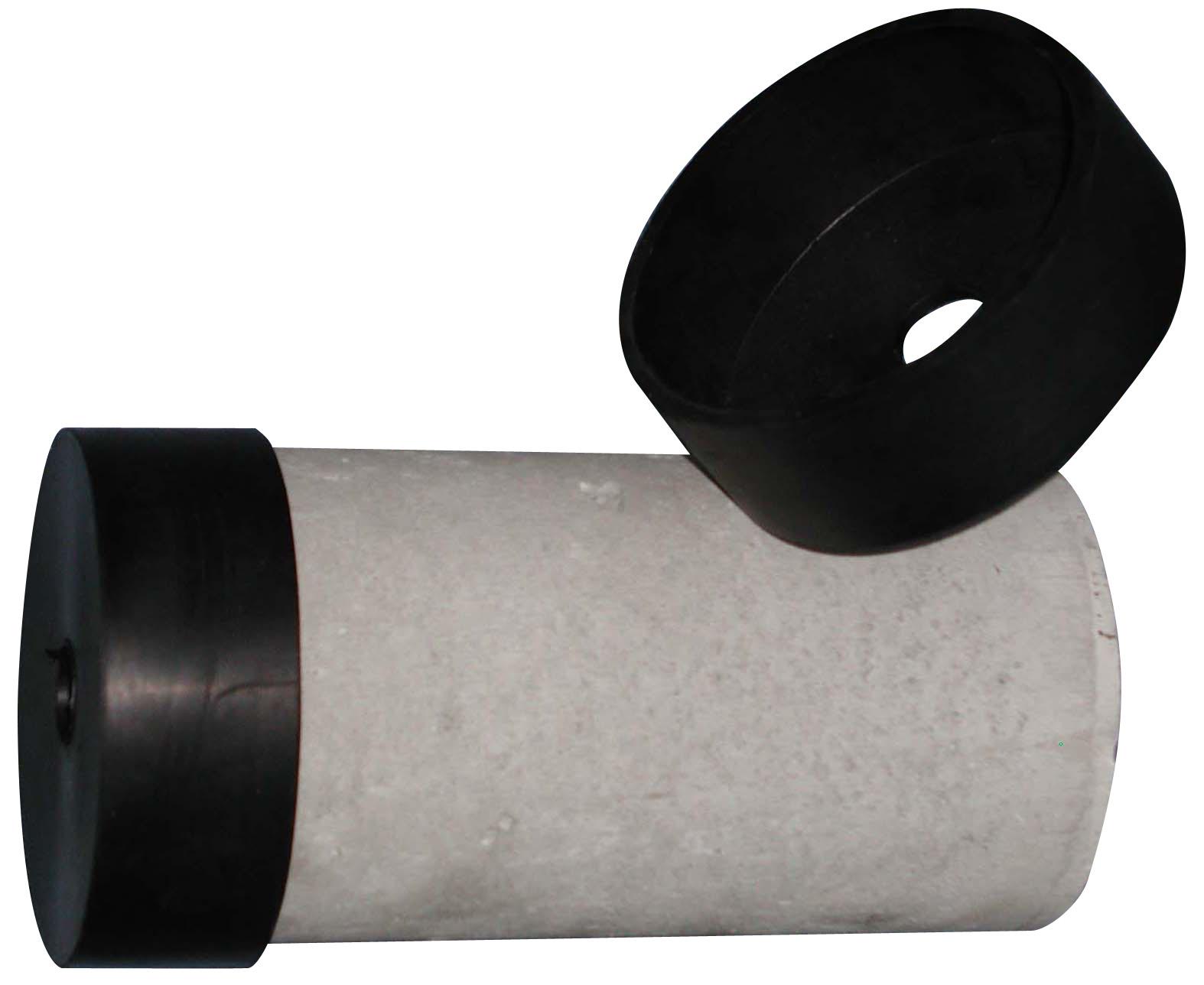 圧縮供試体保護用ゴムキャップ A:φ100x200用 B:φ125x250用