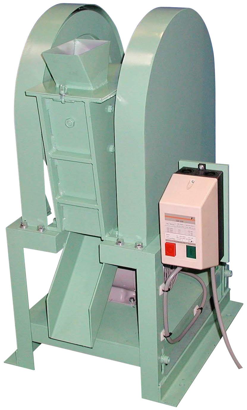 粉砕装置 ジョークラッシャー 投入試料 A:約30mm B:約65mm