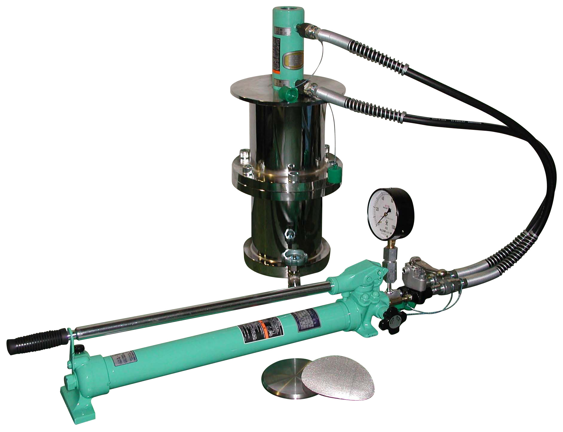 加圧ブリーディング試験機負荷装置 能力100kN・200kN