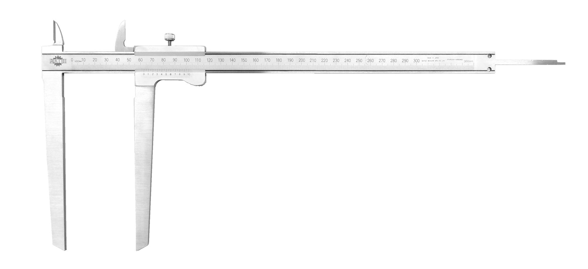 フロー値測定尺(最少0.05mm・最大300mm)