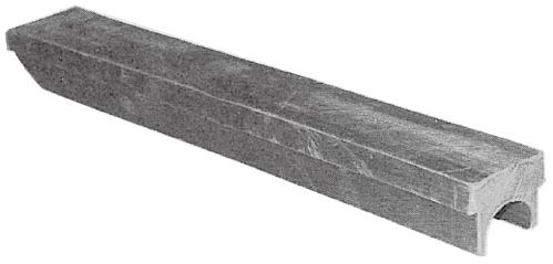 片面R型ゴム板(Rゴム) 巾50mmx2.100mm