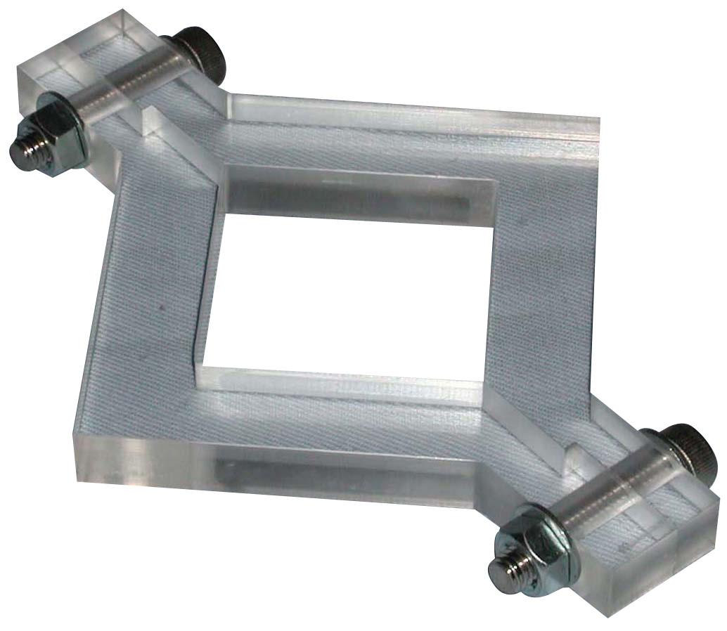 供試体成形用型枠 プラスチック製 内寸法40mmx40mmx10mm