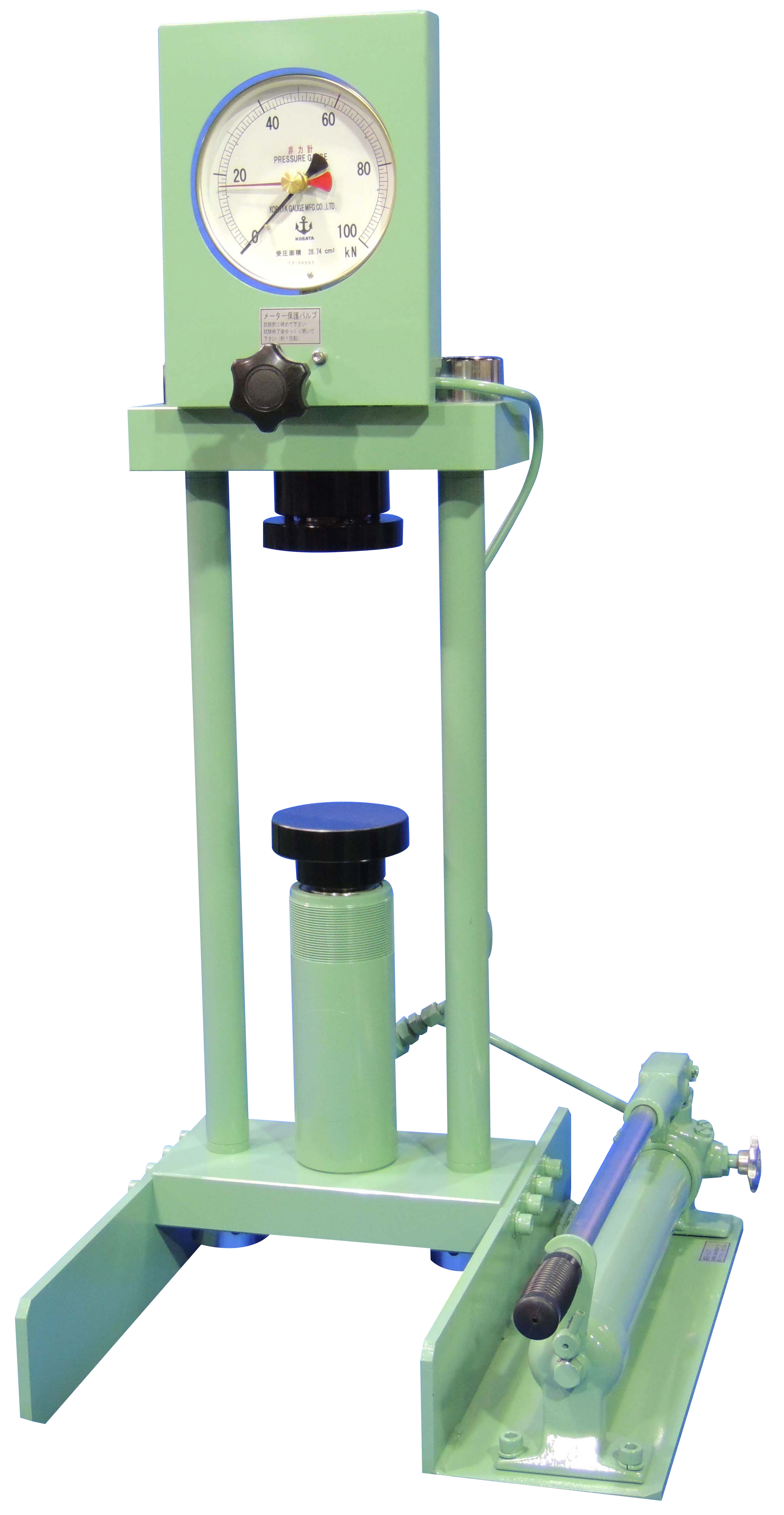 能力100kN簡易圧縮試験機