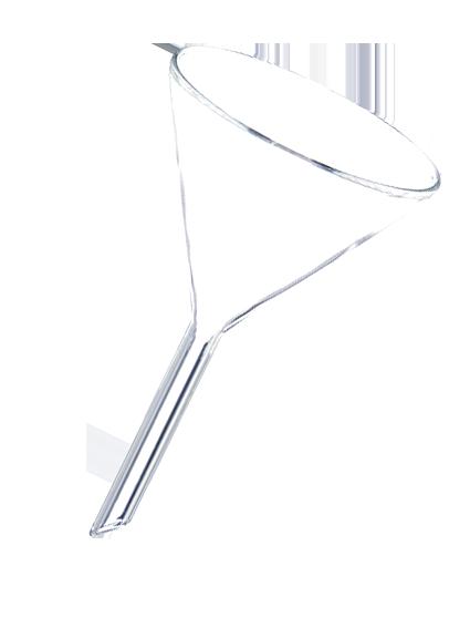 漏斗(ガラス) 径60mm