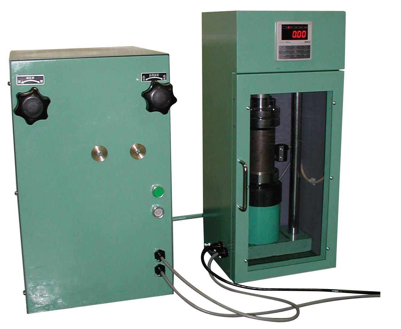 能力100kN電動油圧式圧縮試験機