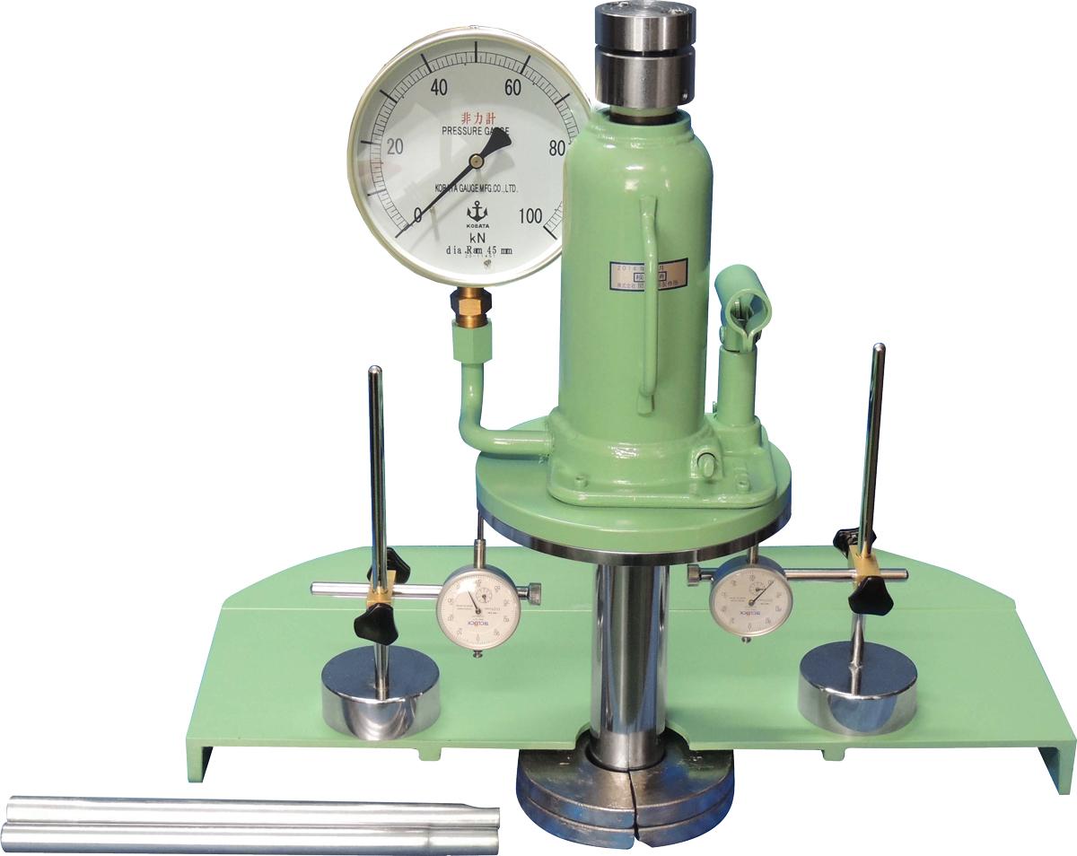 油圧ジャッキ式現場CBR試験機 A:50kN B:100kN