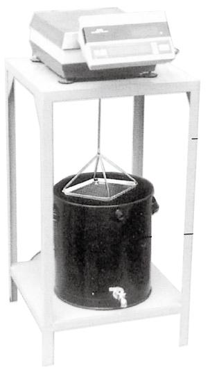 容器及び架台 水槽 内径φ325xH350mmオーバーフローコック付