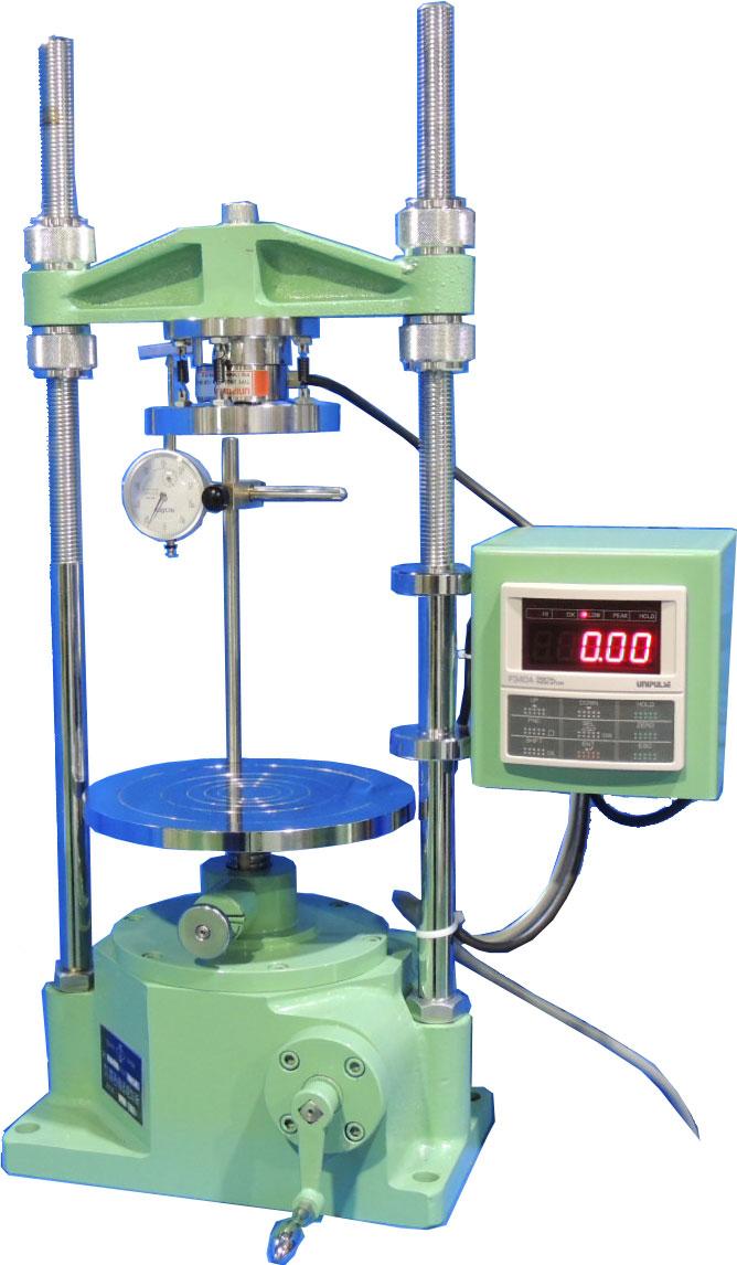 デジタル表示式一軸圧縮試験機 A:手動式 B:電動式