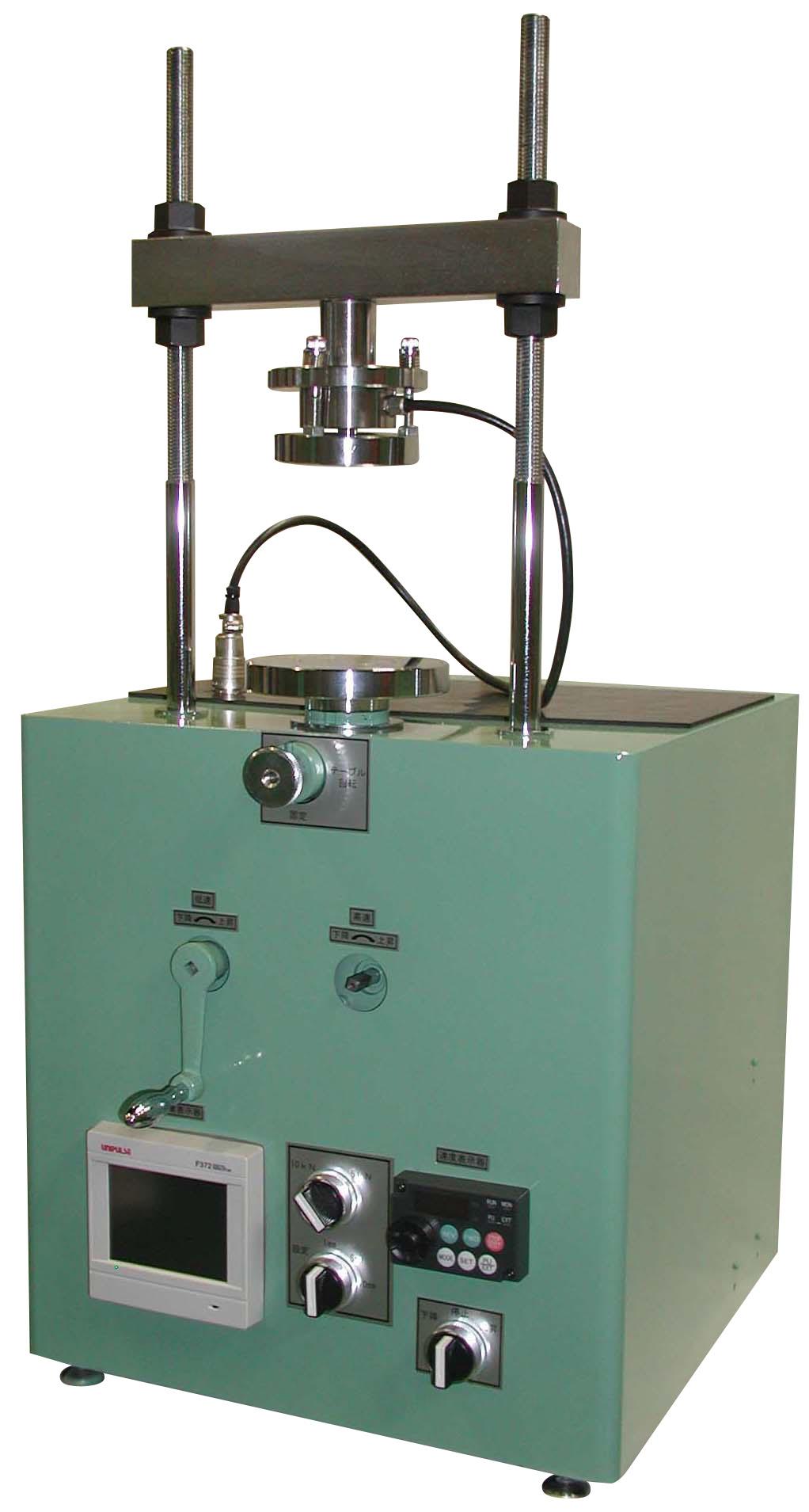 電動式一軸圧縮試験機 切替能力 5000N 2500N 1000N 500N