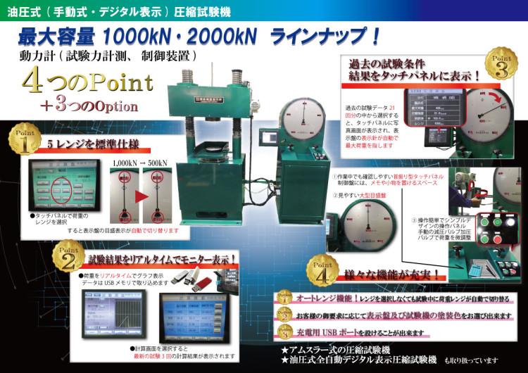 [能力2000kN圧縮試験機]p1,p4LED3