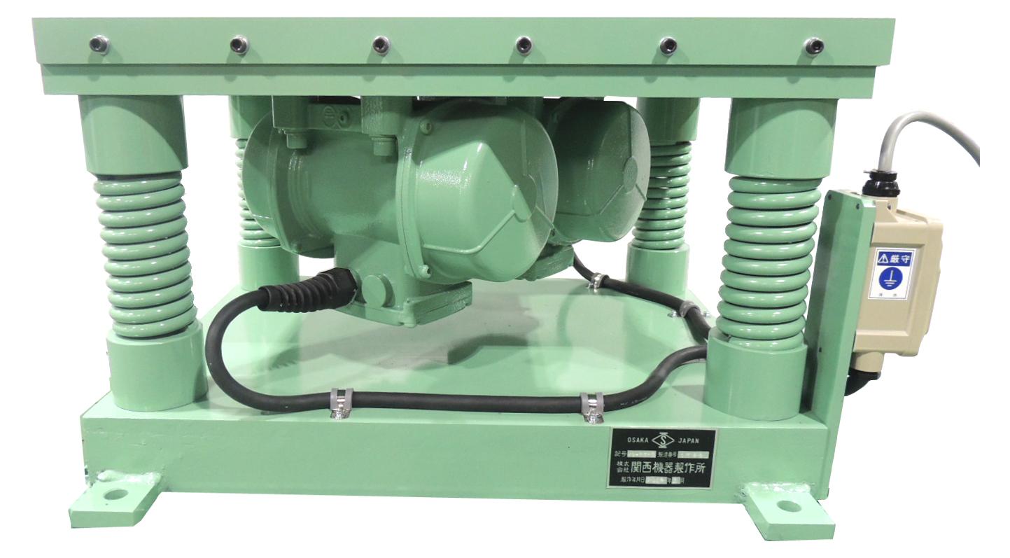 テーブルバイブレーター A:450mmx450mm B:450mmx600mm C:600mmx600mm D:450mmx600mm(インバーター付)