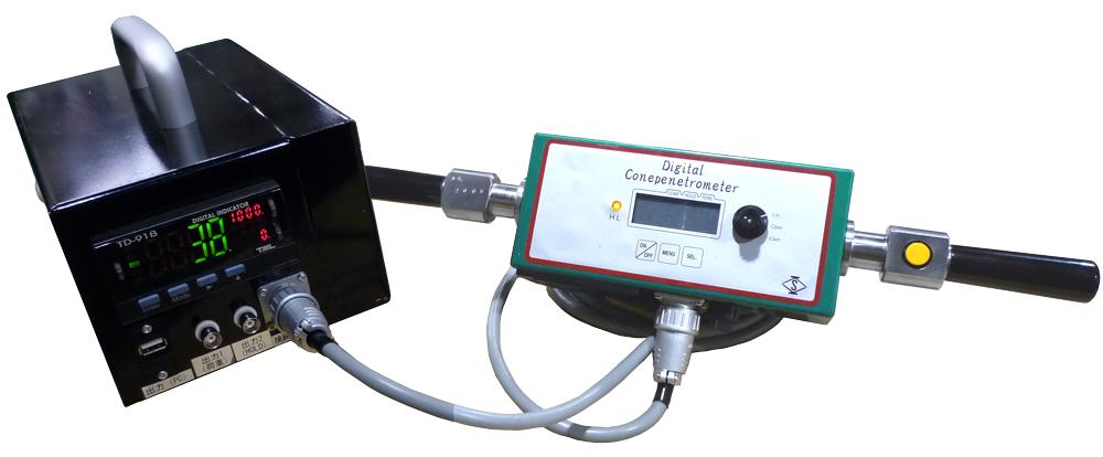 デジタルコーンペネトロメーターα データ出力機能付(ポータブルコーン貫入試験機)