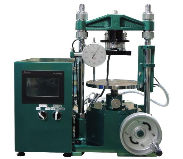土の一軸圧縮試験機(能力5kNデジタル型) 自動式